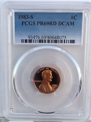 1983-S Lincoln Proof PCGS PR69RD DCAM  Shipping $$ on First Coin Only