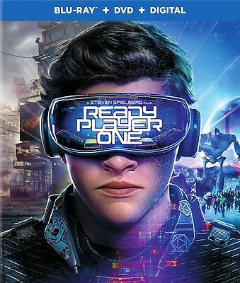 Ready Player One 2018 PG-13 science fiction movie, new Blu-ray/DVD/DC, Spielberg