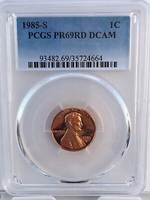 1992-S LINCOLN PROOF CENT 1c PCGS PR69RD DCAM