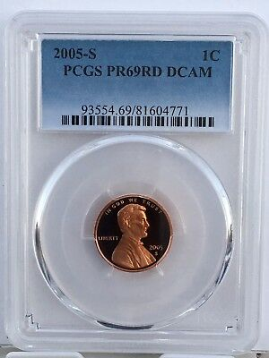 2005-S Lincoln Proof PCGS PR69RD DCAM  Shipping $$ on First Coin Only