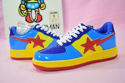 0548c030 A Bathing Ape DC Comics Bapesta Wonder Woman Patent Leather Blue US 6 Nigo