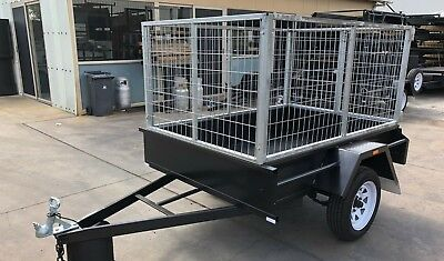 7X5 Single Axle Box Trailer | 3FT Cage | 750kg | Fixed Front | NEW