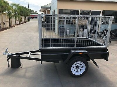 6X4 Single Axle Box Trailer | 3FT Cage | 750kg | Fixed Front | NEW