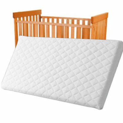 Baby Toddler Cot Bed Breathable QUILTED Foam Mattress 100 x 70 x 13 cm