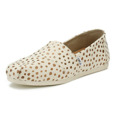 035abe58edd TOMS Womens Natural Rose Gold Polka Dots Classic Espadrilles Casual Summer  Shoes