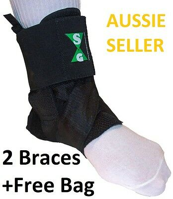 ASO ANKLE BRACES 'in STYLE' -2 (A PAIR) SIZE MEDIUM with FREE CARRY BAG
