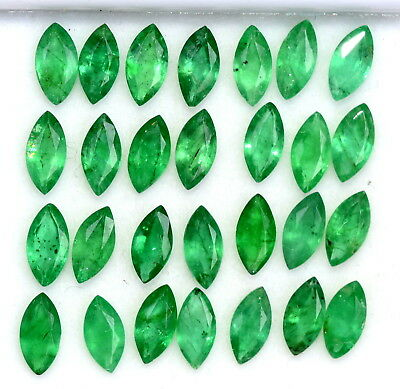 Natural Emerald Marquise Cut 6x3 mm Lot 20 Pcs 4.30 Cts Untreated Green Gemstone