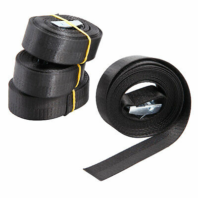4PC HEAVY DUTY RATCHET TIE DOWN CARGO STRAPS 3 Metre 25MM Black