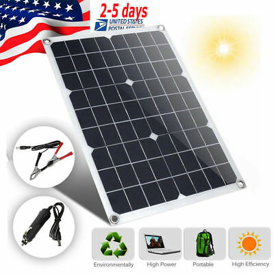 20W 30W 12V Solar Panel + 10A Controller Bundle Kit 20 30 Watt Battery Charger