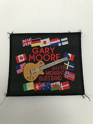 Gary Moore PATCH Original 90er Vintage Aufnäher  9,5x8cm Hard Rock Thin Lizzy
