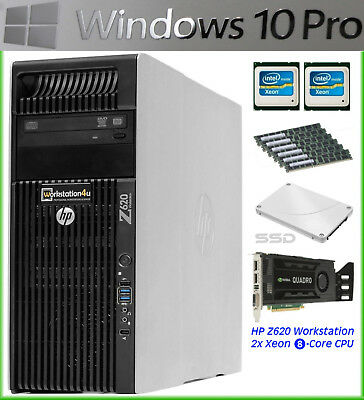 HP Z620 WORKSTATION E5-2690 32GB 256GB SSD with FX 4800 for SALE