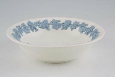 Wedgwood - Queen's Ware - Blue Vine on White - Cereal / Soup Bowl - 70041G