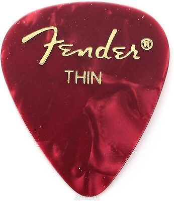 Fender 351 Shape Premium Celluloid Picks - Thin Re