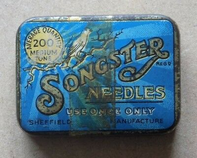 Vintage SONGSTER Needles Tin and Contents