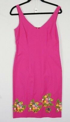 2c883e50c43c Moschino Cheap and Chic Pink Floral Embroidered Tank Shift Sleeveless Dress  8