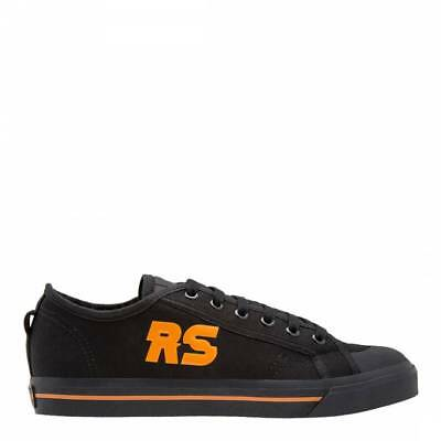 ADIDAS BY RAF SIMONS Men's Black Orange Raf Simons Spirit Low Lace up Trainers