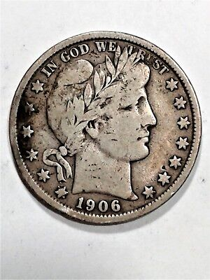 1906 Barber Half Dollar | Circulated | (218)