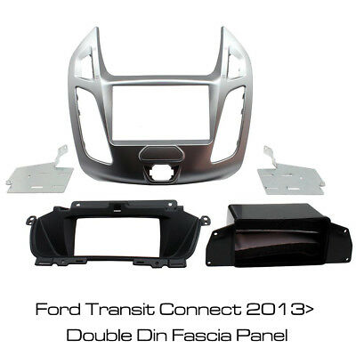 Ford Transit Connect 2013> Car Stereo Double Din Silver Fascia Panel CT23FD49 BN
