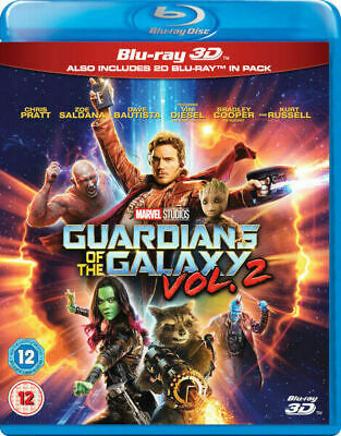 Guardians of the Galaxy Vol. 2 3D [Blu-ray 3D + blu-ray] New and Sealed!!