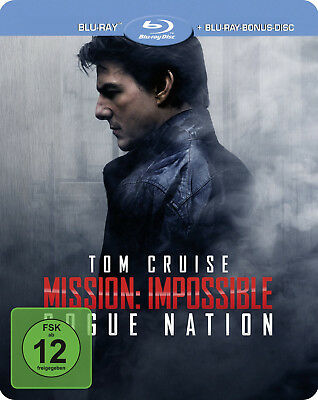 Mission Impossible: Rogue Nation - Limited Edition Steelbook [Blu-ray] New!!