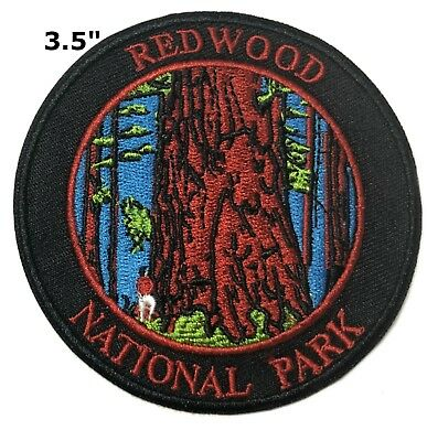 Redwood National Park Patch Iron / Sew-On Embroidered Souvenir Travel Explore