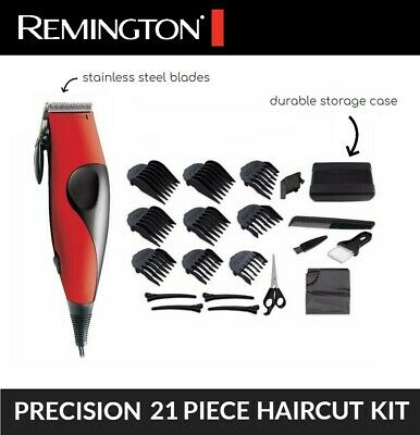 Remington 21Pc Hair Clippers Trimmer Clipper Cutting Beard Electric Tool Set