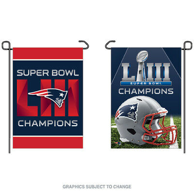 "New England Patriots Super Bowl 53 Champions Double Sided Garden Flag 12""x18"""