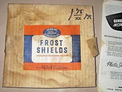 VINTAGE FORD FROST SHIELD PAIR Glass Car Truck Accessory Canada