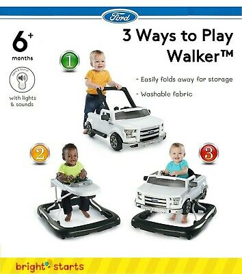 Ford 3 Ways to Play Baby Walker Authentic Sound Push Handle Toddler Toy Truck