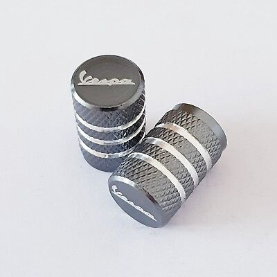 VESPA Laser Wheel Valve Dust caps all models PX 125 Sprint GTS 946 GTV Grey