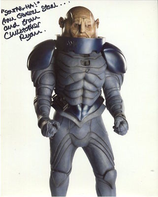 Christopher Ryan Photo Signed In Person - General Staal  in Doctor Who - F142