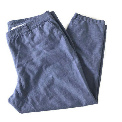8c2732768cd TALBOTS WOMENS SIZE 16wp The Weekend Chino Pants Chambray Cotton ...
