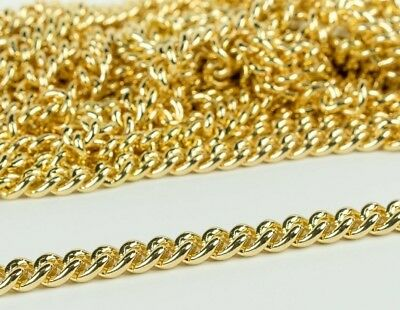 High Quality Gold Chain Metal (Lead Free) 13mm Wide - Handbags, Jewelry, Craft