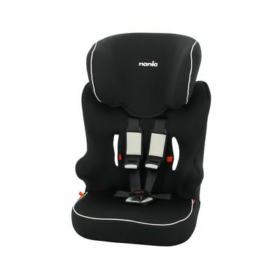TT Nania Racer First High Back Booster Car Seat Groups 1/2/3 Black White