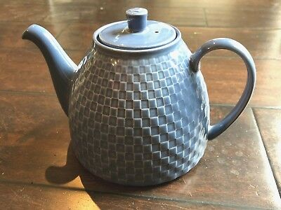 Wedgwood WEEKDAY WEEKEND BLUE Teapot ~Queen's Ware, UNUSED