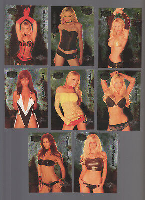 ( 3 ) 2004 Bench Warmer Series 2 Hotties Complete 8 Card Foil Sets