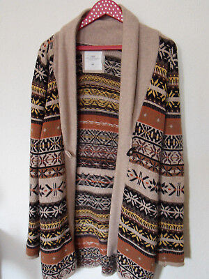 new arrivals d0c18 b1ed1 H&M STRICKJACKE GR.S 36/38 Cardigan Lang Wolle Pullover Norweger Muster  Blogger