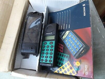 Retro Vintage Ericsson GA 628 Mobile Phone Used & Boxed With Accessories,