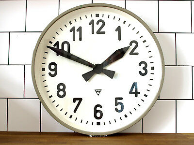XXL 21inch battery operated PRAGOTON wall clock - metal round industrial vintage