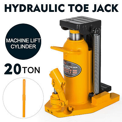 20 Ton Hydraulic Toe Jack Machine Lift Cylinder Warranty Equipment Industrial