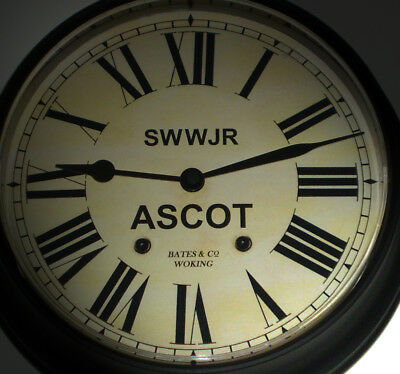 Staines, Wokingham & Woking Junction Railway 1850's Style Ascot Station Clock