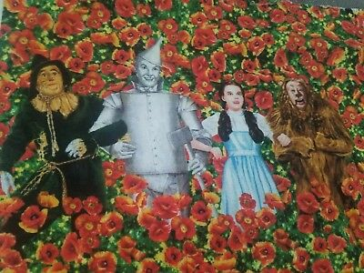 Fabric Art Quilt Block Scarecrow  Cotton  TWOO135 *The Wizard of Oz