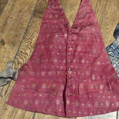 Vintage Hogg & Sons silk backless collared waistcoat 1952.