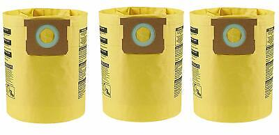 Shop Vac 5-8 GALLON OEM High Efficiency Bags-3PK-Fits All Tank Sizes 9067100