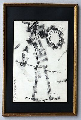 Don Quixote, Don Quijote. By Aguilar Moré, small drawing in charcoal, 1960