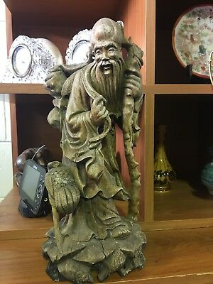 Antique Hand Carved Wooden Carving