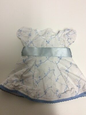 American Girl Doll Bitty Baby Blooms White And Blue Dress Retired