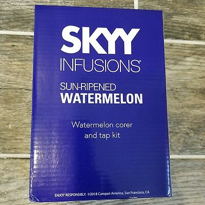 SkYY Vodka Infusions Watermelon Kit Corer and Tap NEW Summer Party Bar Accessory