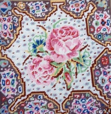 EHRMAN RARE VINTAGE Kaffe Fassett ESPHAHAN ROSE Tapestry Needlepoint KIT ENGLISH