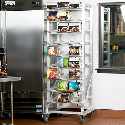 Restaurant Full Size Aluminum Can Rack with Casters for #10 and #5 Cans